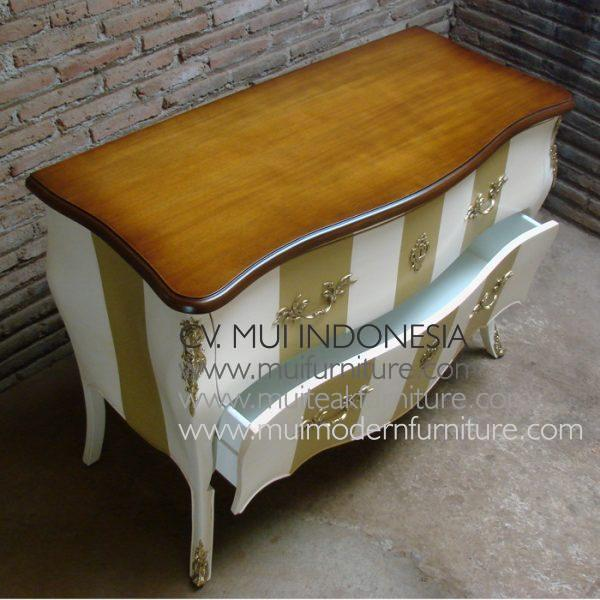 Commode Striped 2 Drawer