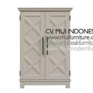 Cross Door Bar Cabinet