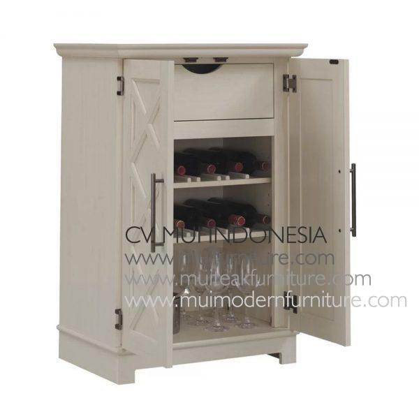 Cross Door Bar Cabinet