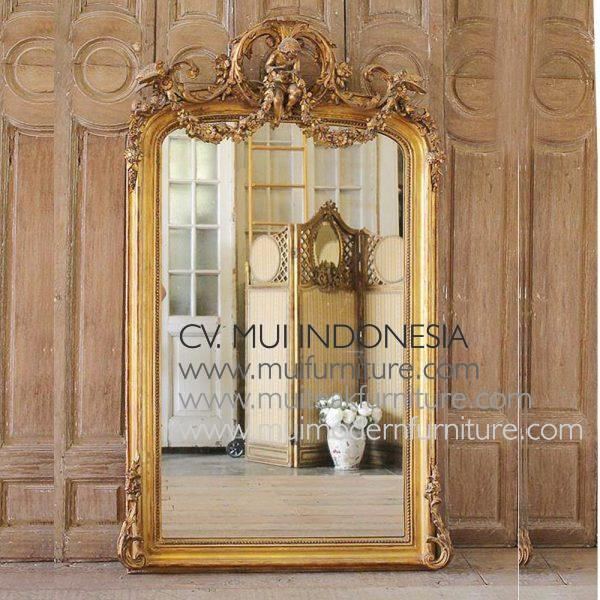 EARLY 20TH CENTURY LOUIS PHILIPPE STYLE GILT MIRROR