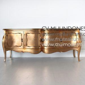 French Four Door Sideboard Victorian Gold