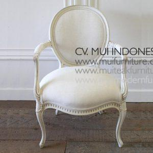 Louise XV Oval Arm Chair