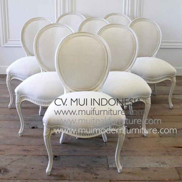 Louise XV Oval Arm Chair