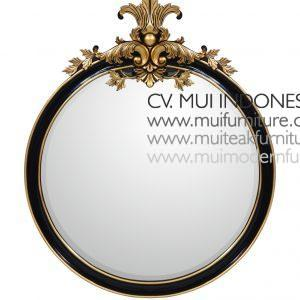 Round Mirror with Carving