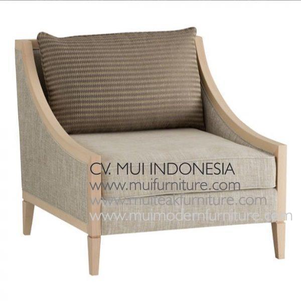 Square Arm Chair-White