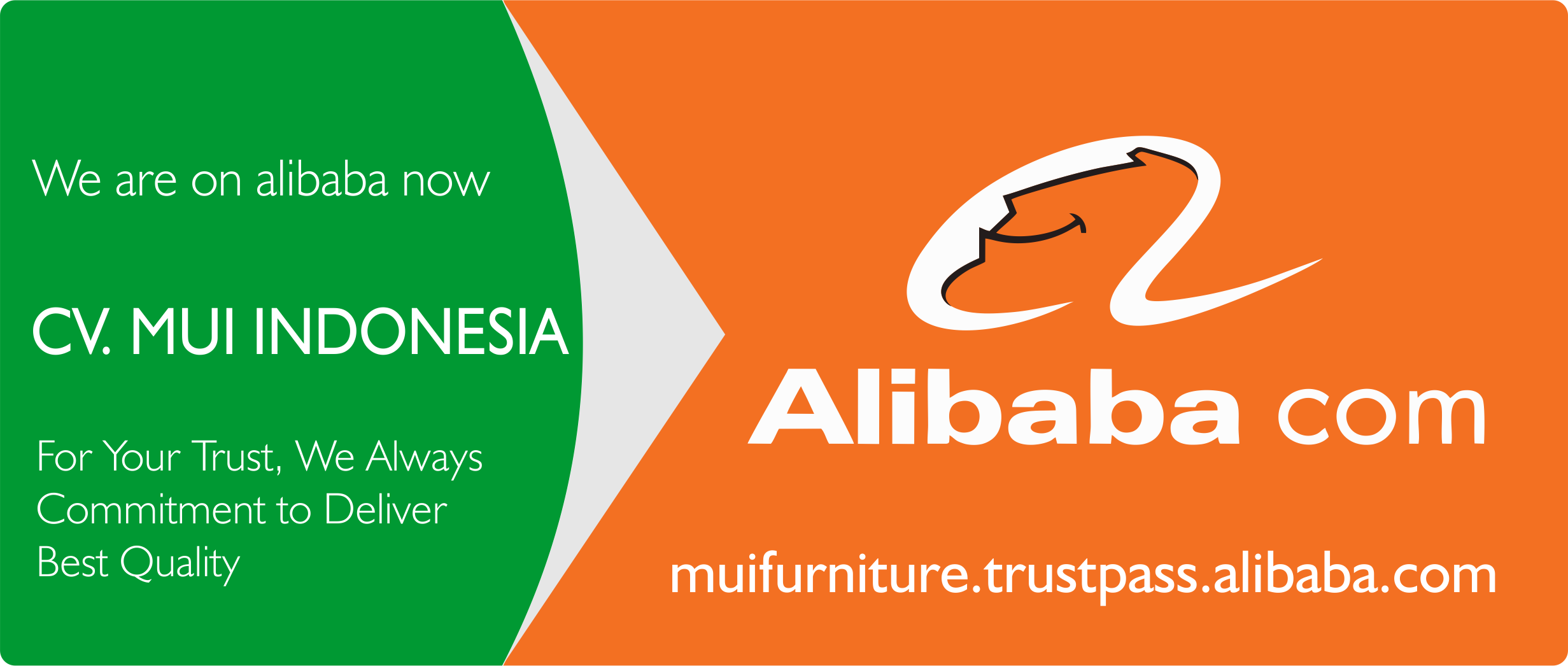 Mui furniture Trustpass alibaba