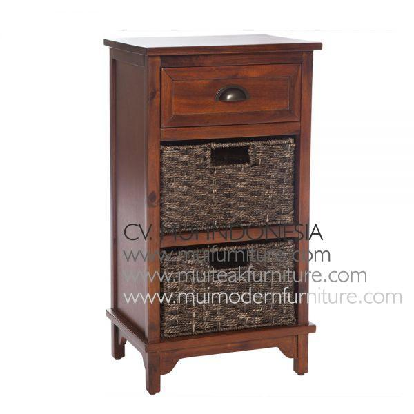 Antique Brown french style 3 Drawer