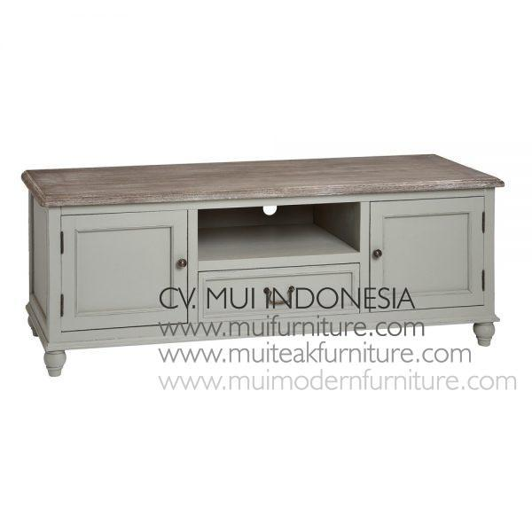 Antique Grey Shabby Tv Stand, Size 160W x 50D x 52H cm