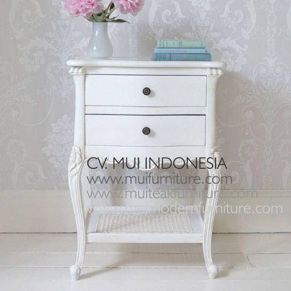 Antique White French Bedsidetable