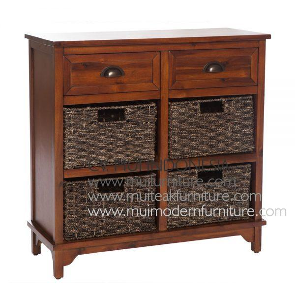 Antique french Brown style 6 Drawer