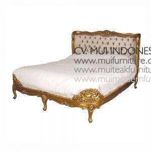 Baroque Antique French Bed, Size Queen 160 x 200cm