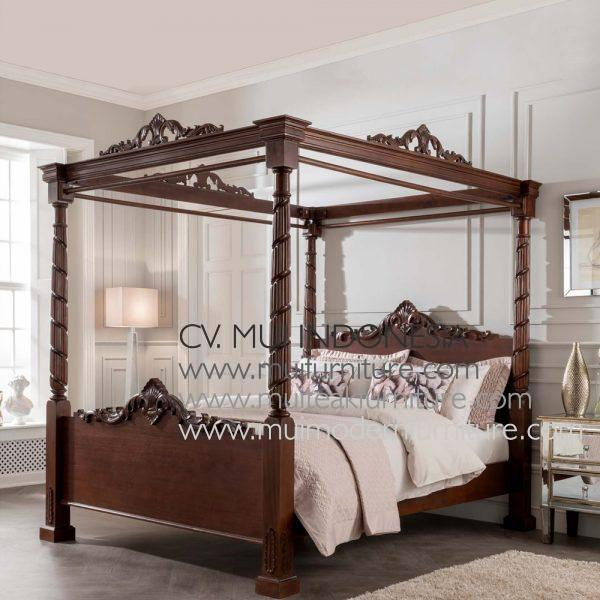 Canopy Poster Bed King Antiq