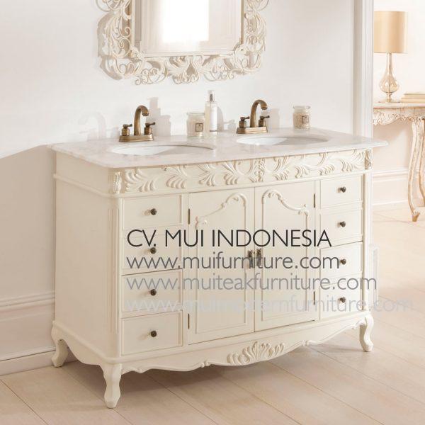Double Watafel Dresser White