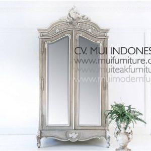 Fawn Grey Mirror Armoire, Size W120 x D60 x H230cm