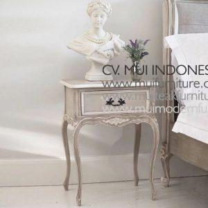 Fawn Grey with accents Bedside Table