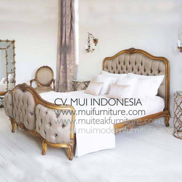 French Bed Gold Gilt , Queen Size 160 x 200 cm
