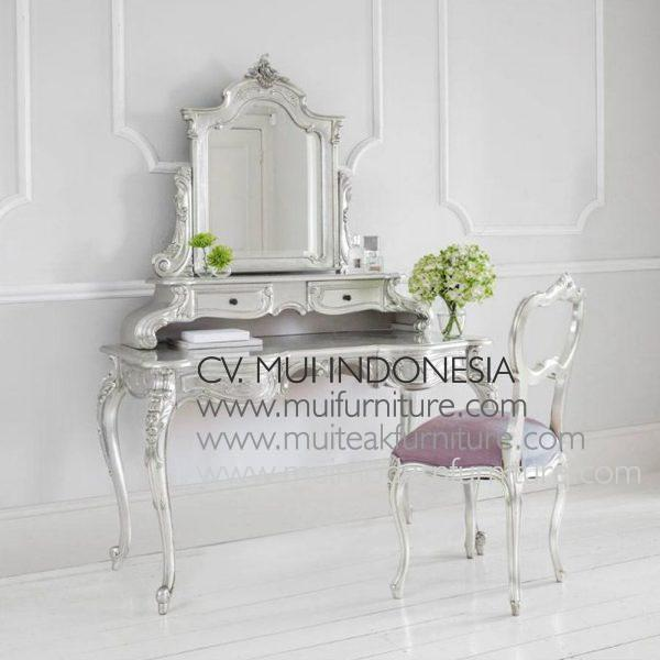 French Dressing Table Silver Leaf