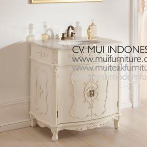 White Antique french Vanity