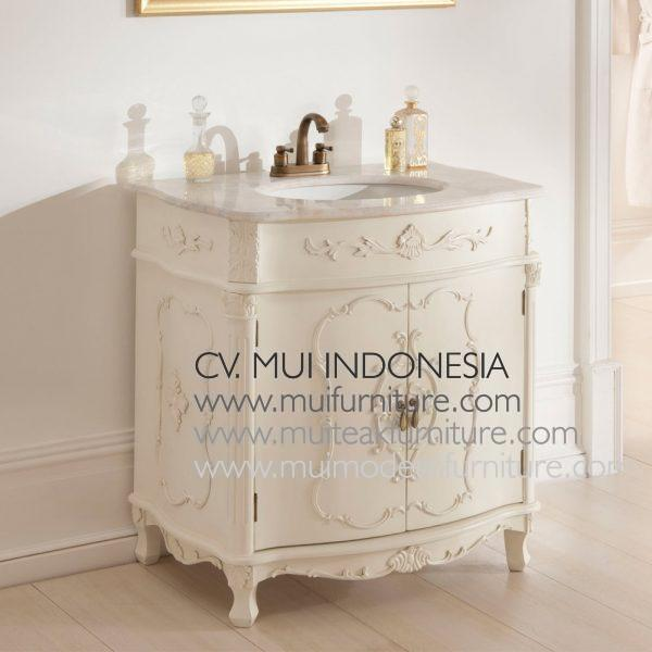 White Antique french Vanity