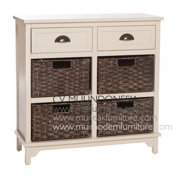 White Antique french-style 6 Drawer, 70W x 35D x 70H cm