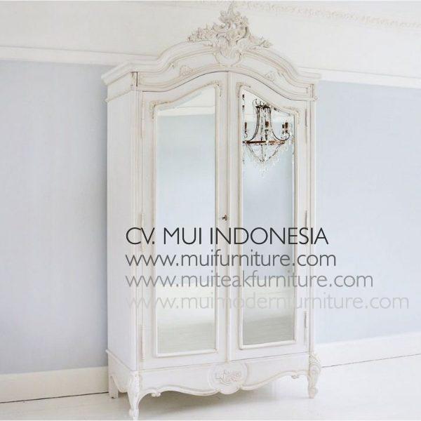 White antique Mirror Armoire, Size W120 x D60 x H230cm