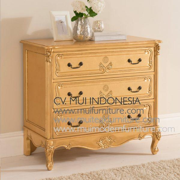 baroque Full Gold Chest 3 Drawer