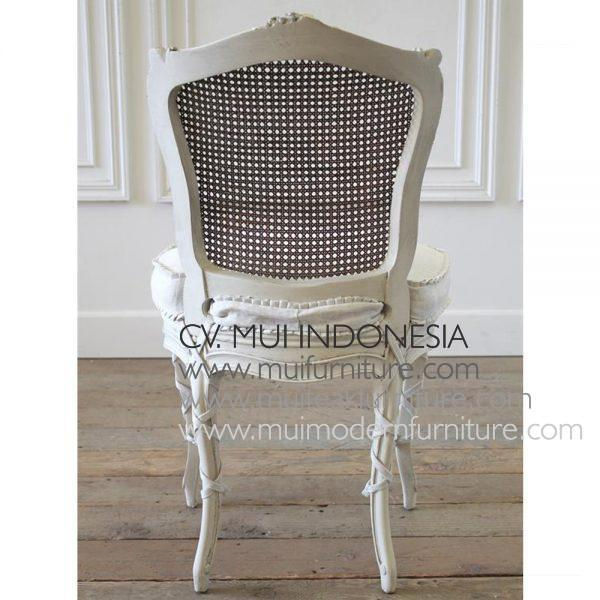 French Side Chair 19th Rattan,50W x 53D x 83H cm