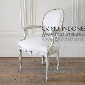 Ribbon Arm Chair Louis XVI, 64W x 64D x 98H cm