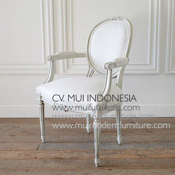 Ribbon Arm Chair Louis XVI, 64W x 64D x 98H cm