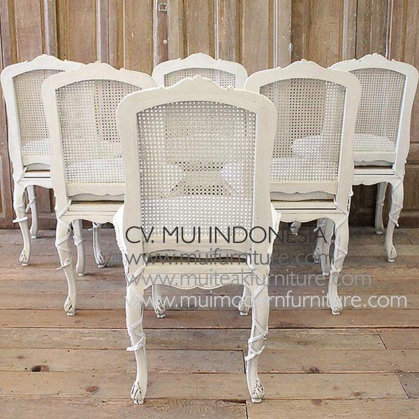 Set Of 6 French Country Dining Chairs