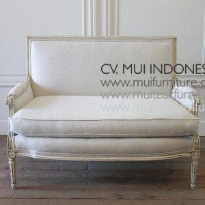 Setty Chair 2 Seater Louis XVI, 120W x 76D x 92H cm