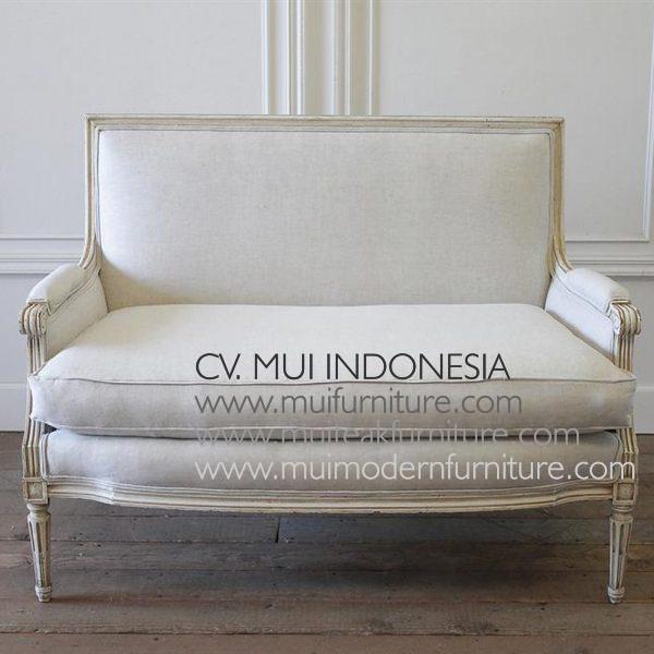 Setty Chair 2 Seater Louis XVI, 120W x 76D x 92H cm
