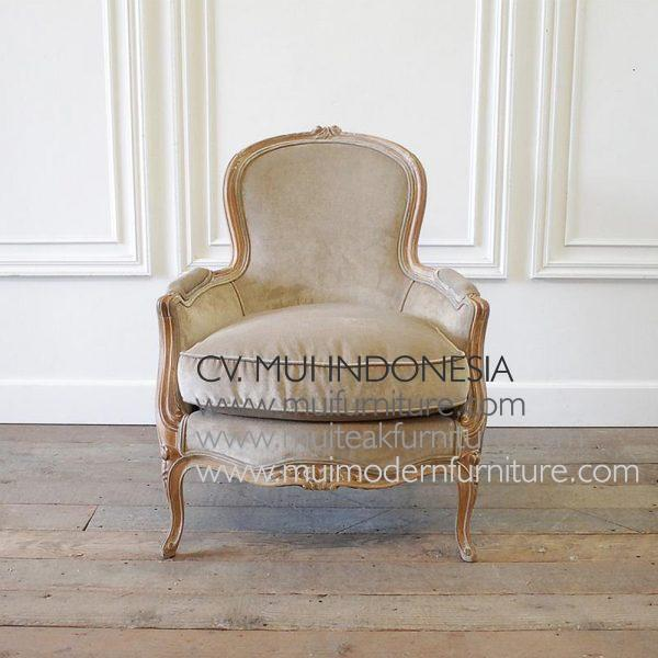 Vintage Louis XV Style Chair And Ottoman