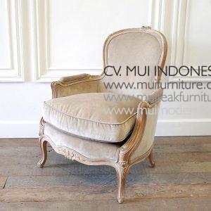 Vintage Louis Sofa with Ottoman, 72W x 76D x 88H cm