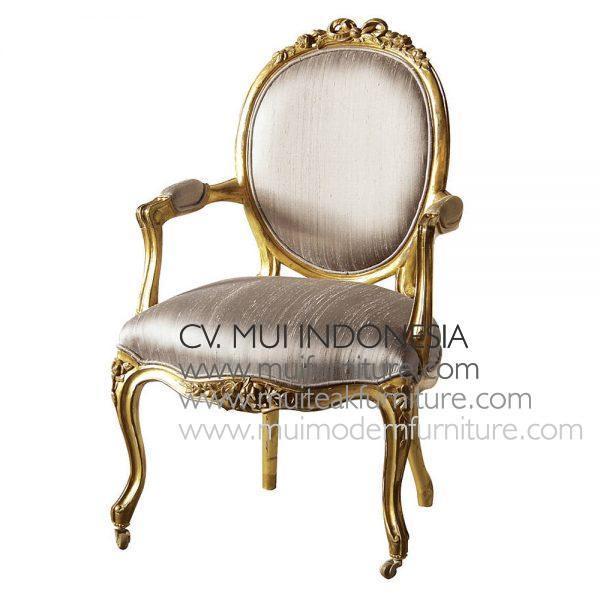 Antique Gold Louis Chair H93 x W59 x D54cm